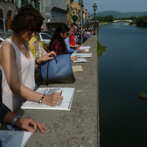 Plein air painting in Florence