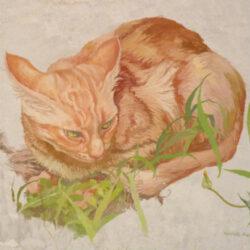 Dipinto di un gatto