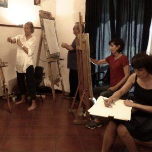 Life drawing Art class