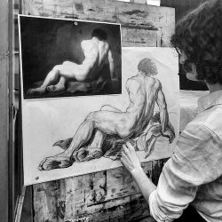 charcoal copy froma a picture