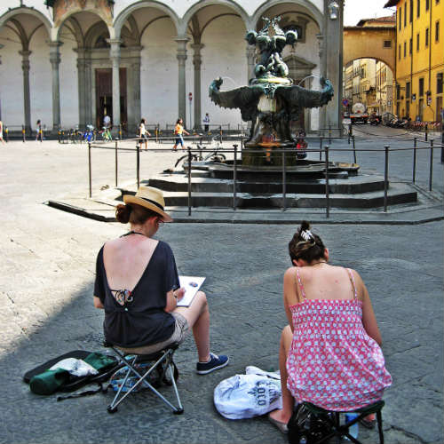 Sketching in Florence