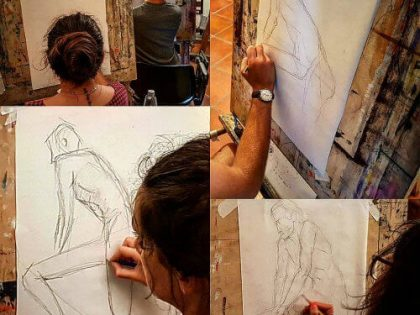 Life-drawing, life-painting and anatomy workshop