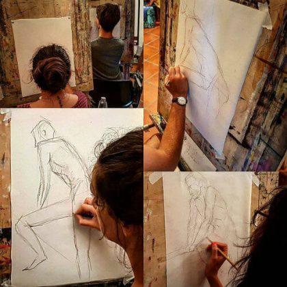 Stage de dessin de nu, de peinture de nu et d'anatomie