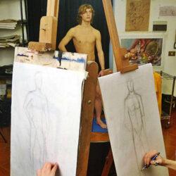 Male nude model