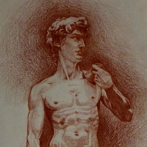 David: sanguine drawing