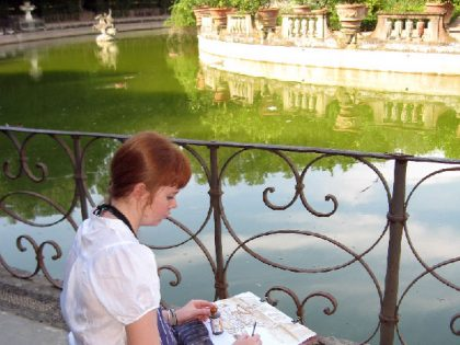 Sketchbook in Florence and Landscape