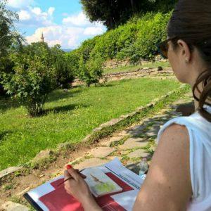 sketching in boboli