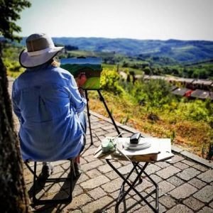 Painting in Tuscany