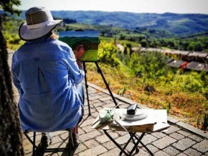 Peindre la Toscane