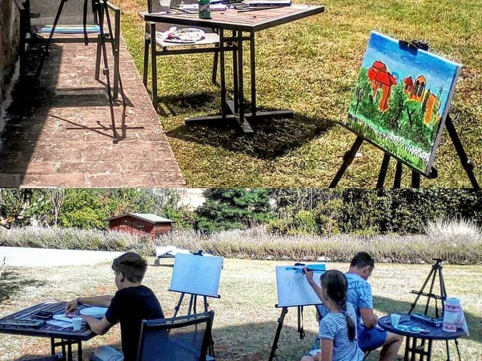 Painting class for groups in Chianti
