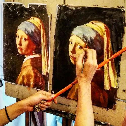 Oil painting portrait