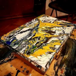fluid art painting